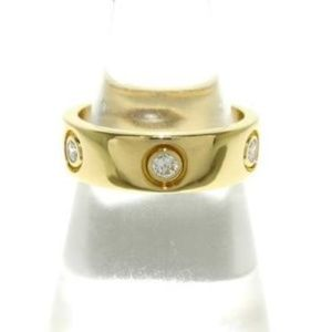 18K YELLOW GOLD with 6 DIAMONDS 'LOVE' BAND